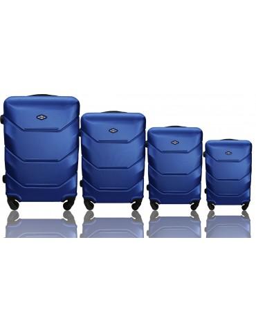 Zestaw walizek 4w1 podróżna RIO COLLECTION GRANATOWY