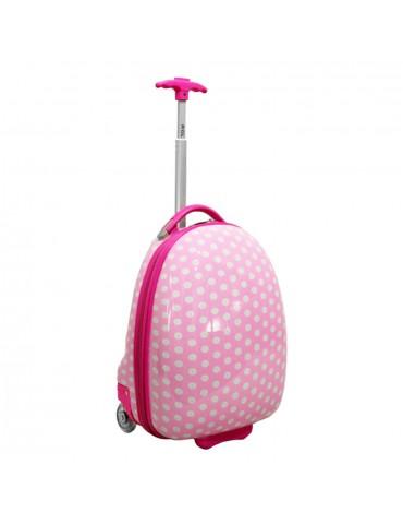 KIDS COLLECTION dwa kółka walizka podróżna różowy