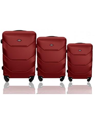Zestaw walizek 3w1 podróżna RIO COLLECTION BORDOWY