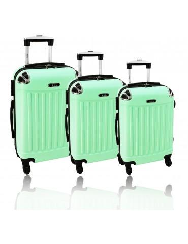 Zestaw walizek podróżnych 3w1 SZANGHAJ COLLECTION miętowa