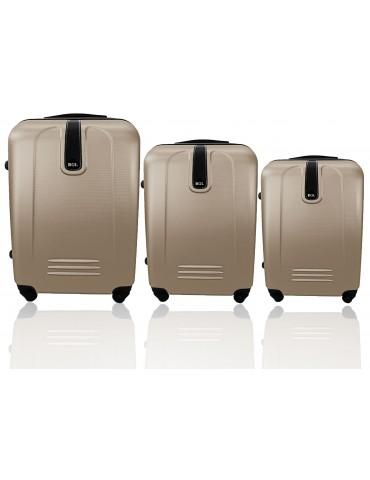 Zesta walizek podróżnych 3w1 BUENOS COLLECTION szampan