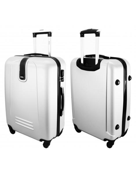 Duża walizka podróżna BUENOS COLLECTION przód i tył walizki