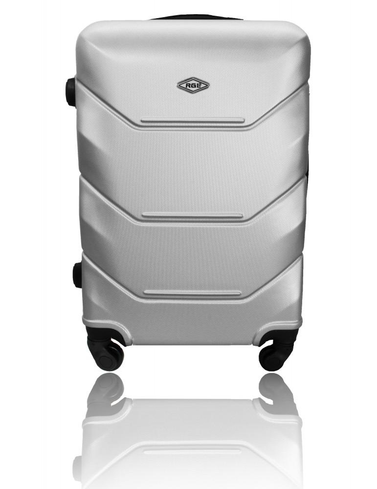 Duża walizka podróżna RIO COLLECTION XXL SREBRNA