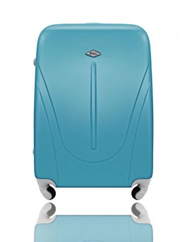 Średnia walizka podróżna NEW YORK COLLECTION niebieski metaliczny