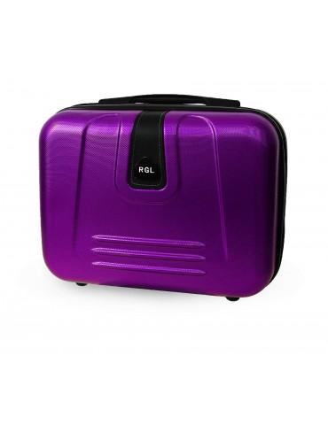 Średni kuferek podróżny BUENOS COLLECTION fioletowy