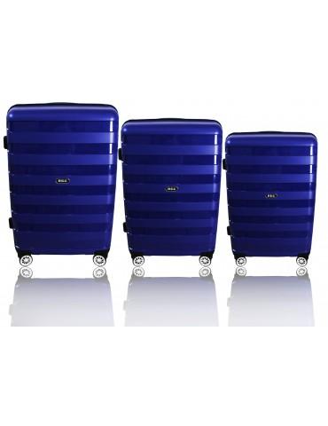 Zestaw walizek podróżnych 3w1 MIAMI COLLECTION GRANATOWY