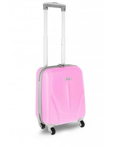 Mała S walizka podróżna NEW YORK COLLECTION pudrowo różowy