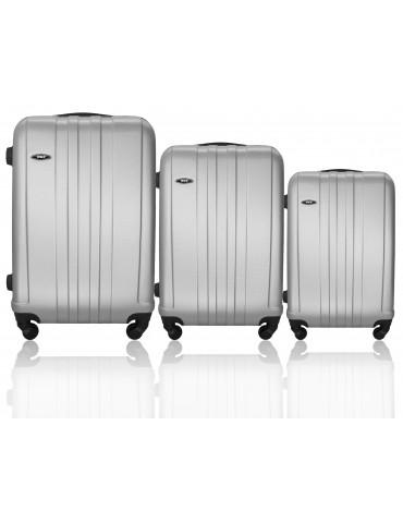 Zestaw walizek podróżnych 3w1 BANGKOK COLLECTION SREBRNY