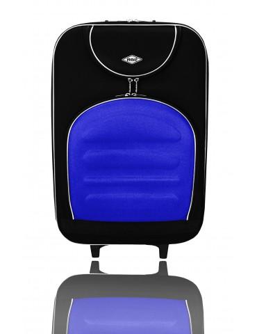 Duża walizka podróżna MADRID COLLECTION CZARNO-NIEBIESKI