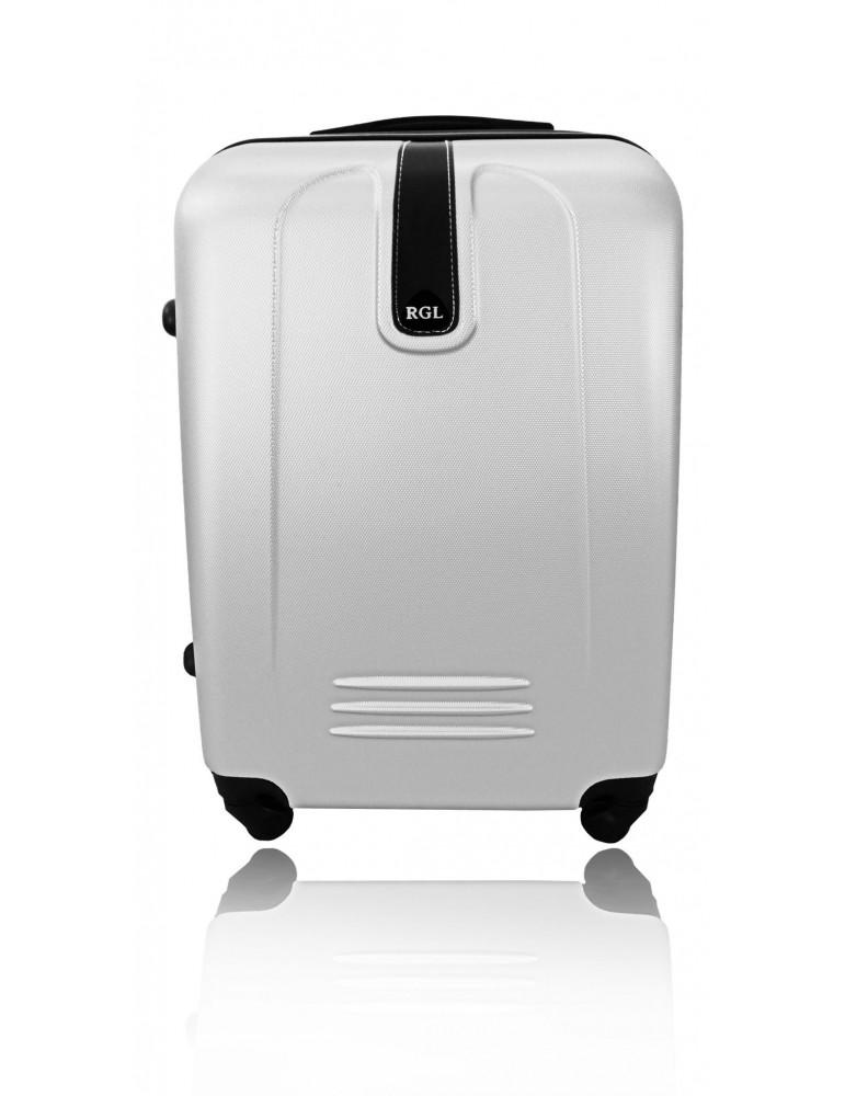 Duża walizka podróżna BUENOS COLLECTION SREBRNY