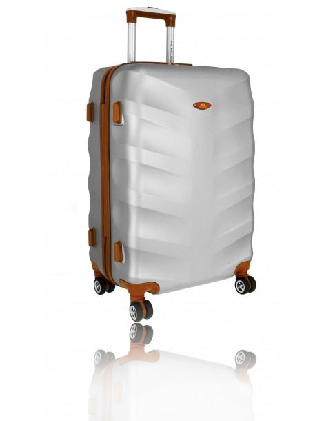 Średnia walizka podróżna TOKYO COLLECTION SREBRNA