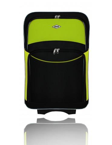 Średnia walizka podróżna PARIS COLLECTION CZARNO-ZIELONY