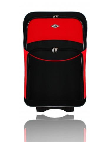 Mała walizka podróżna PARIS COLLECTION CZARNO-CZERWONY