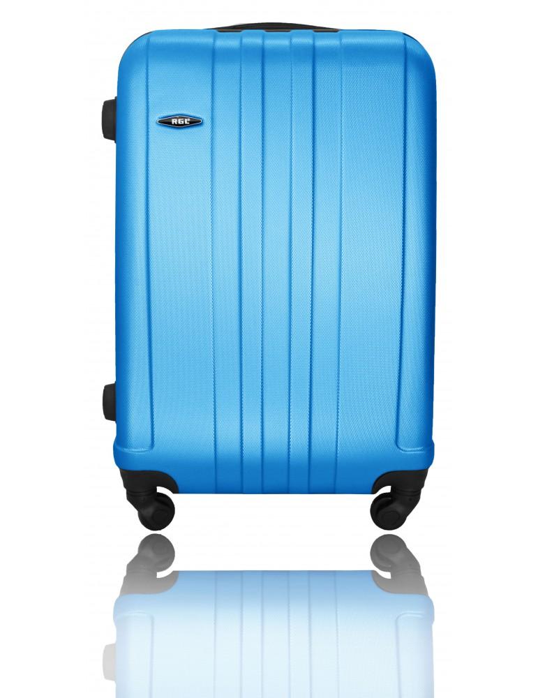 Średnia walizka podróżna BANGKOK COLLECTION  NIEBIESKA METALICZNA