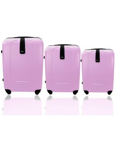 Zesta walizek podróżnych 3w1 BUENOS COLLECTION pudrowo różowy