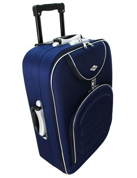 Średnia walizka podróżna MADRID COLLECTION bok walizki materiałowej