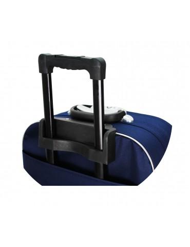 Średnia walizka podróżna MADRID COLLECTION rączka, stelaż wysuwany walizki materiałowej